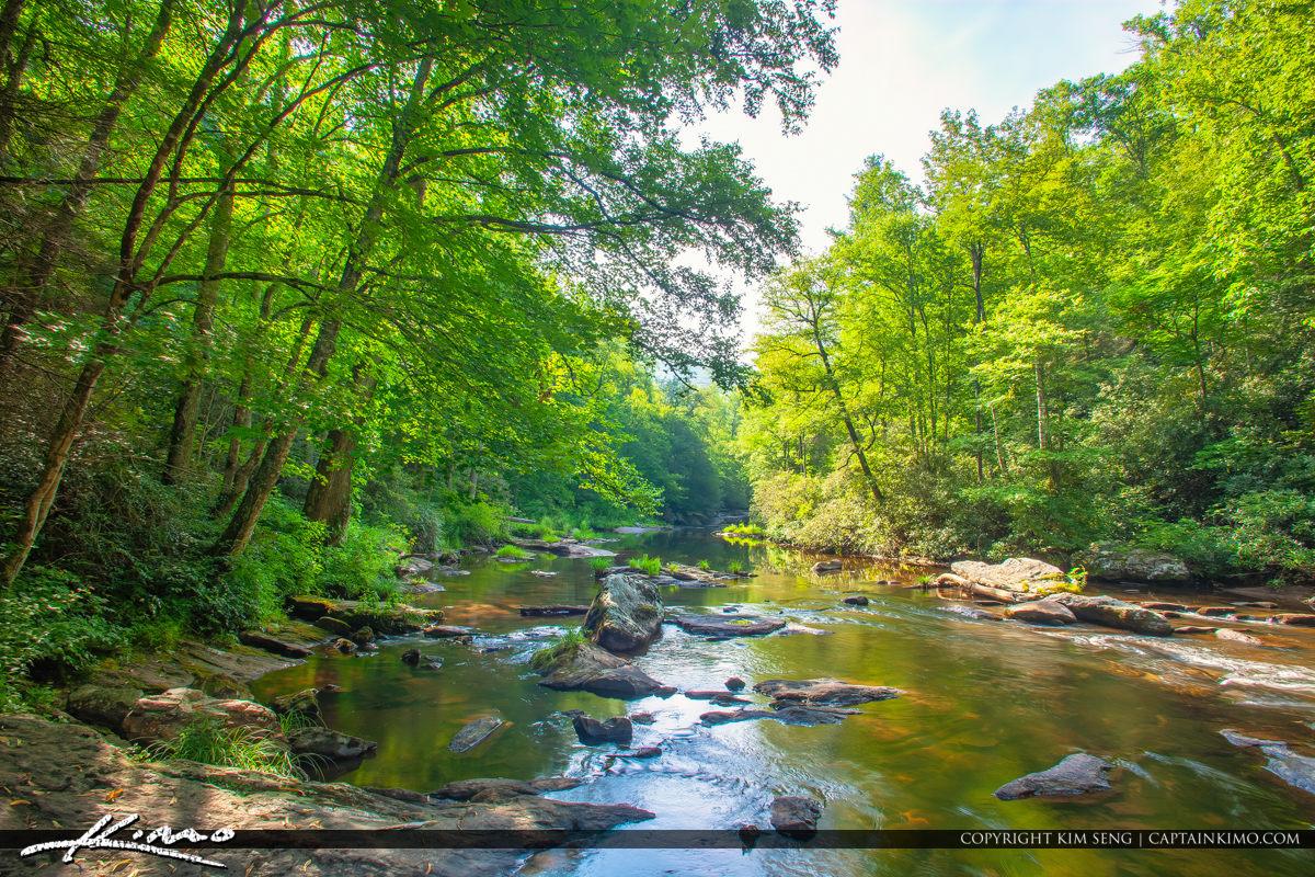 Cullasaja River Highlands North Carolina Blue Ridge Parkway Calm