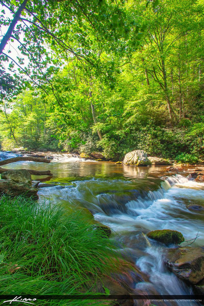 Cullasaja River Highlands North Carolina Blue Ridge Parkway Vert