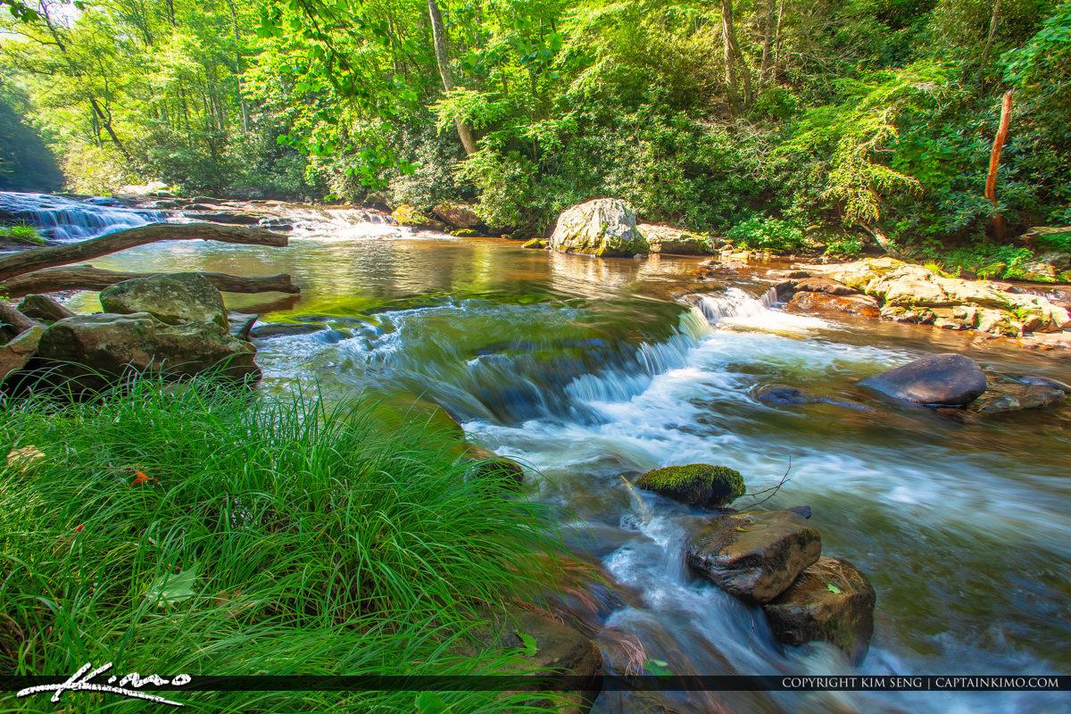 Cullasaja River Highlands North Carolina Blue Ridge Parkway Gree