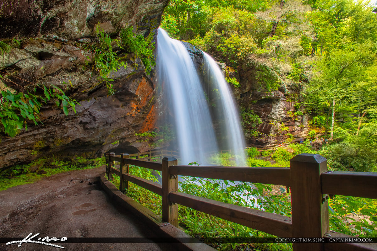 Dry Falls Highlands North Carolina Blue Ridge Parkway Under the