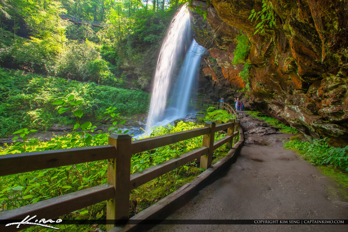 Dry Falls Highlands North Carolina Blue Ridge Parkway Under from