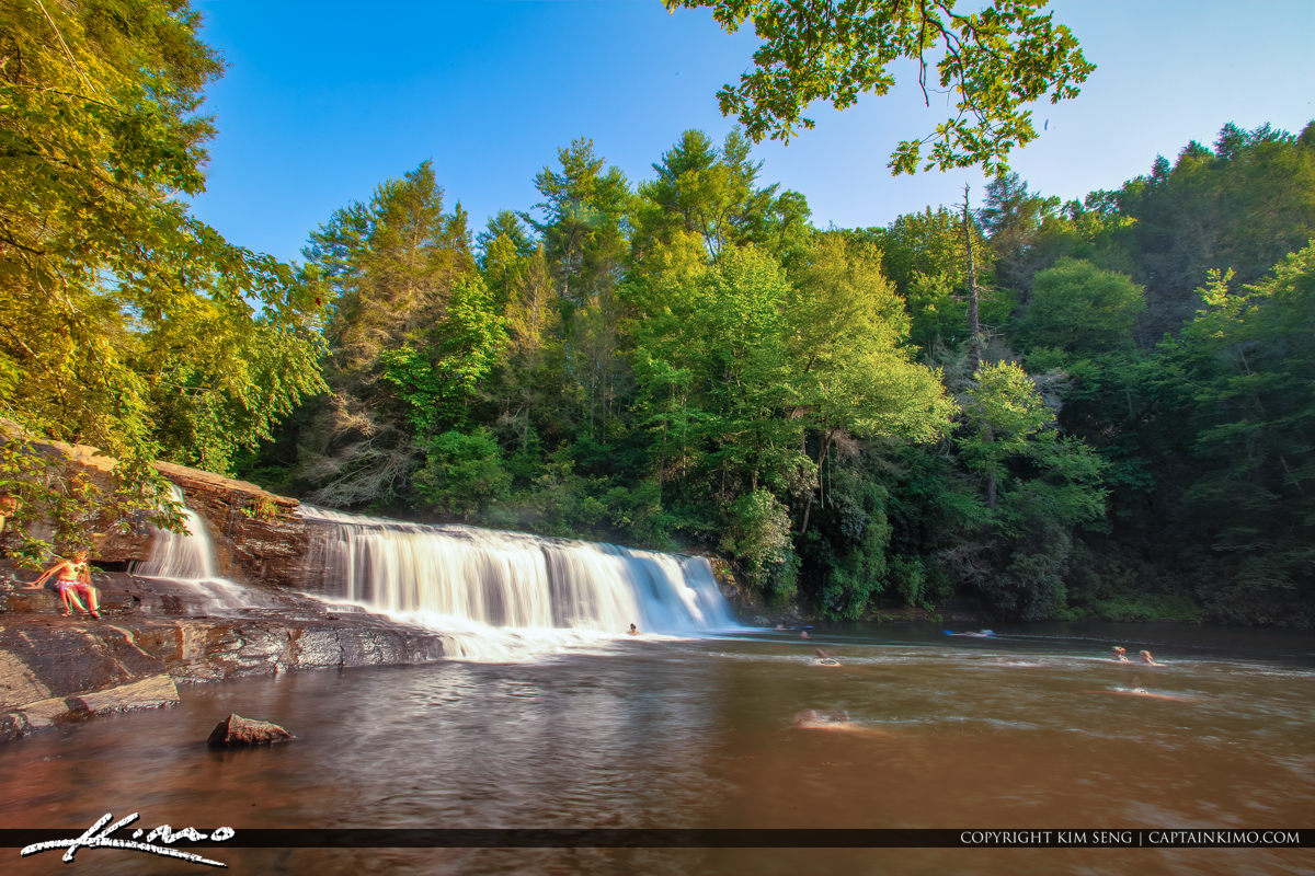 Dupont State Forest North Carolina Waterfall People in Hookers W