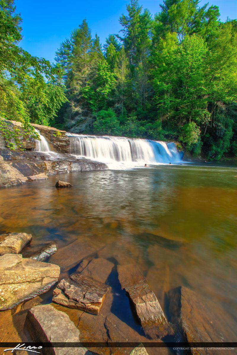 Dupont State Forest North Carolina Vertical Waterfall People Swi