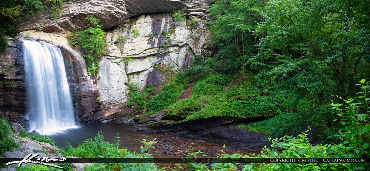 Looking Glass Falls Brevard North Carolina Panorama