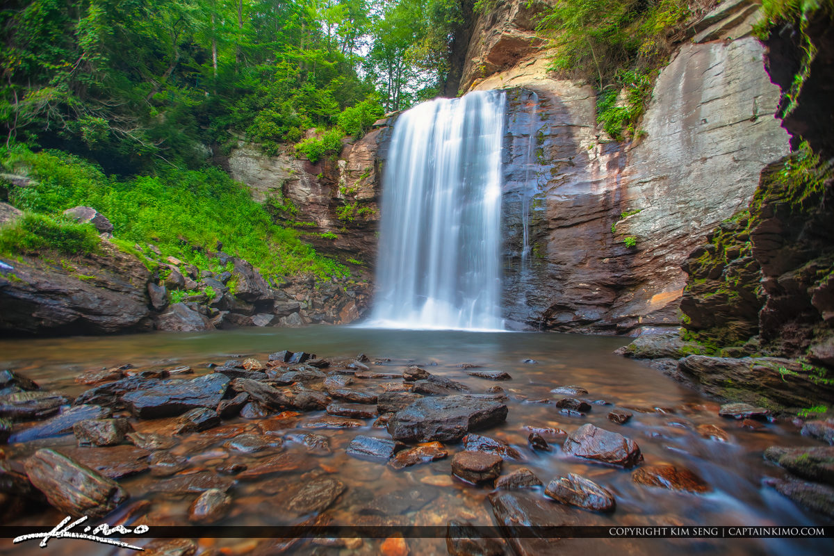 Looking Glass Falls Brevard North Carolina Lower Angle
