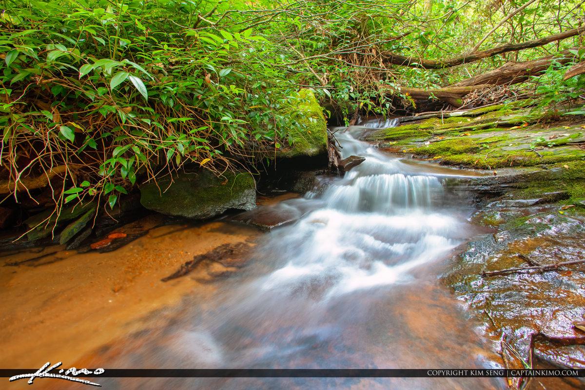 Cascade Falls Jobs Cabin North Carolina Stream Long Exposure at