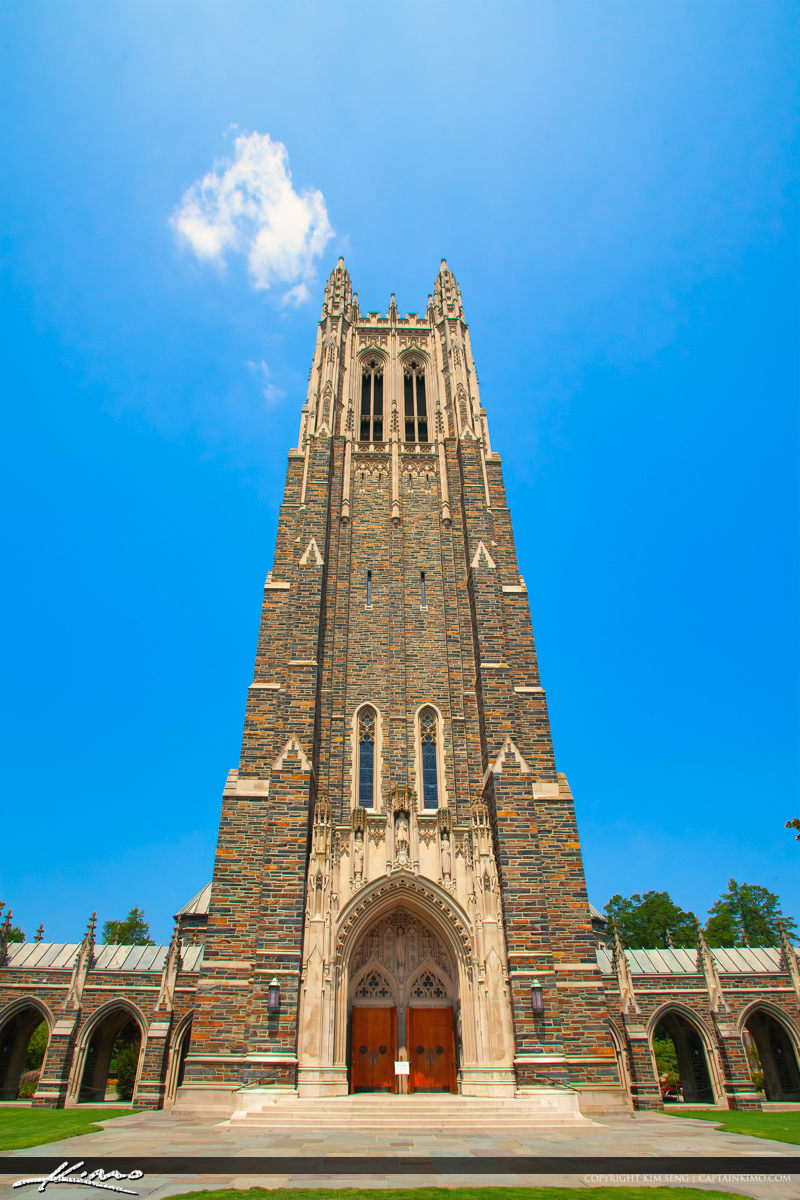 Outside Front Tall Closeup Duke University Chapel Durham North C