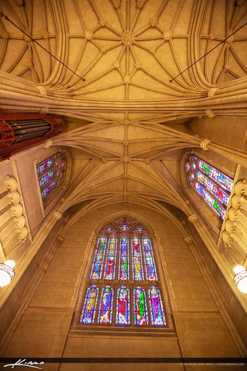 Ceiling Duke University Chapel Interior Durham North Carolina Du