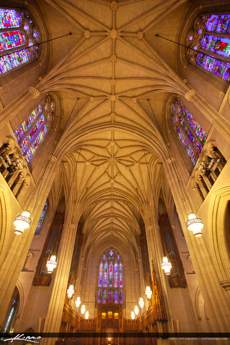 Window Ceilings Duke University Chapel Interior Durham North Car