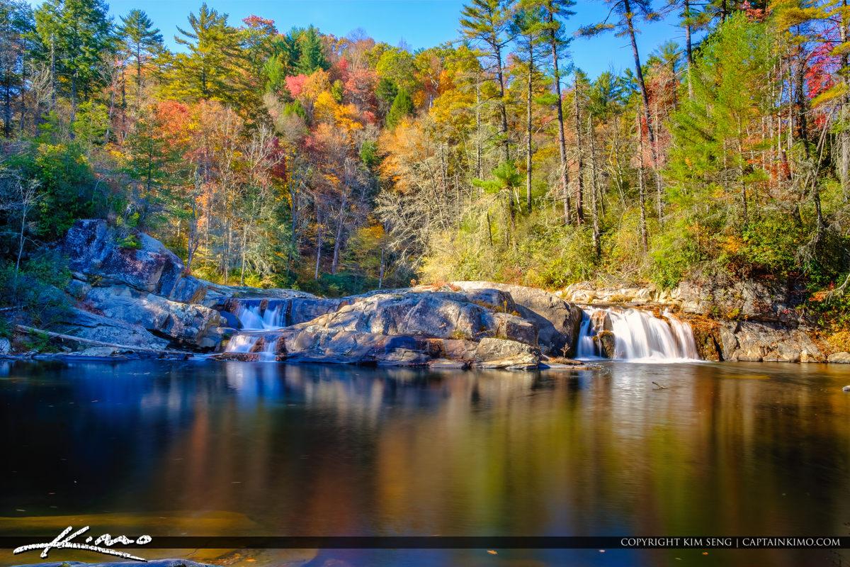 Fall Colors at Linville Falls North Carolina