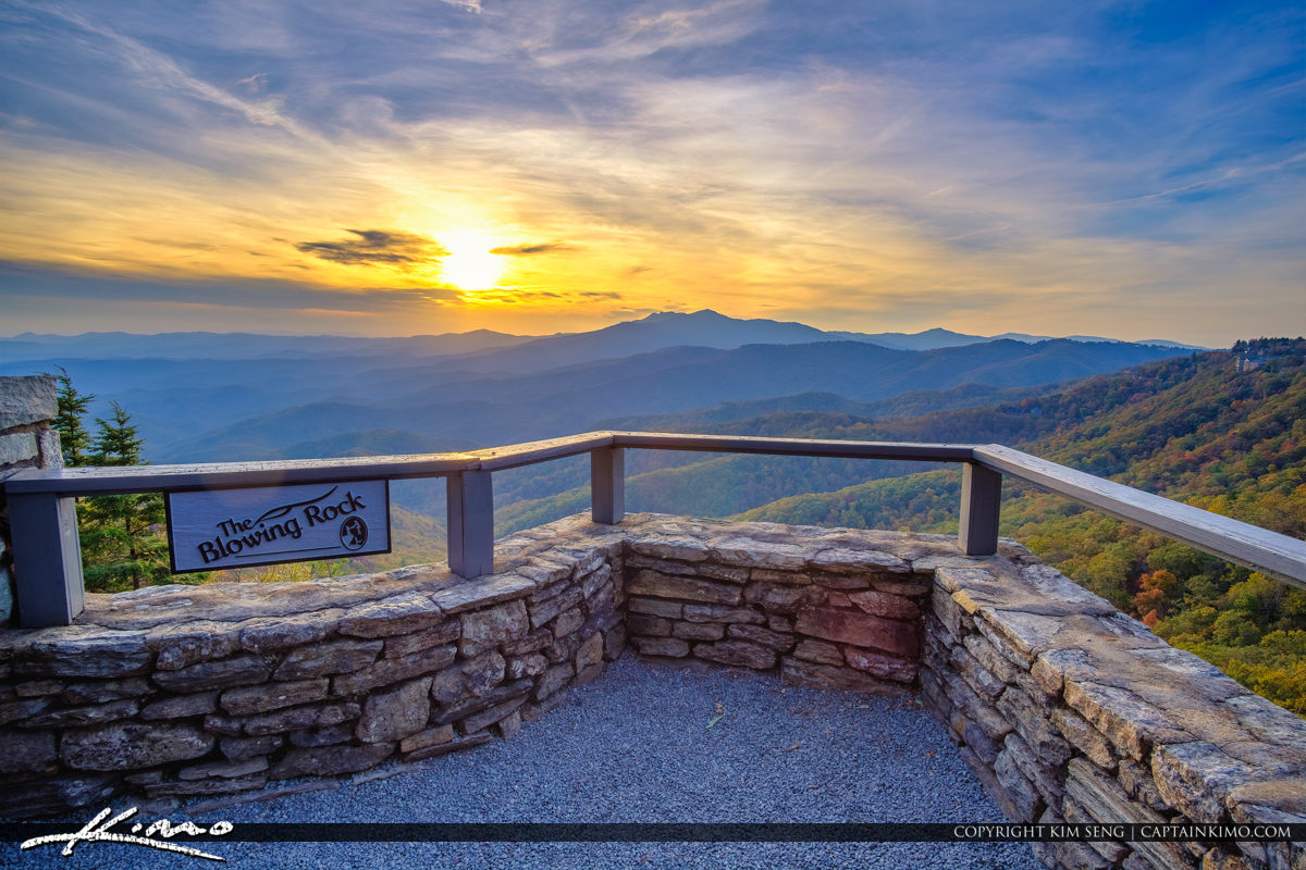 The Blowing Rock North Carolina Wide Sunset Blue Ridge Parkway