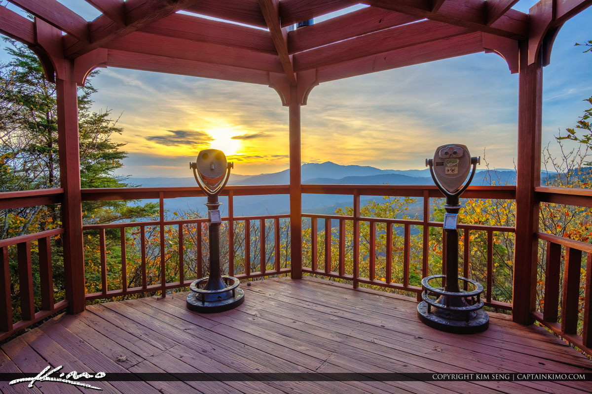 The Blowing Rock North Carolina Looking Glass Under Gazebo