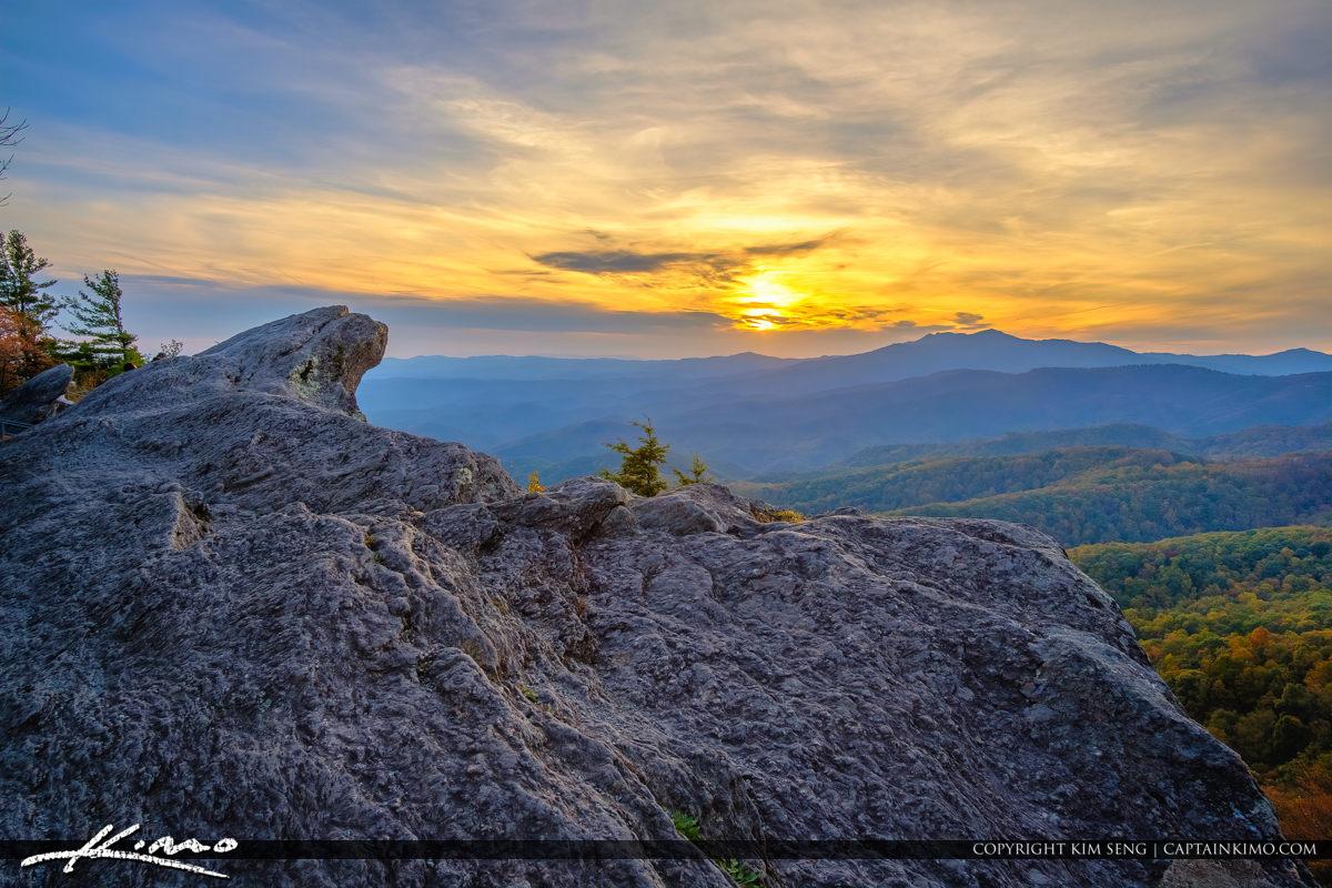 The Blowing Rock North Carolina Mountain Sunset