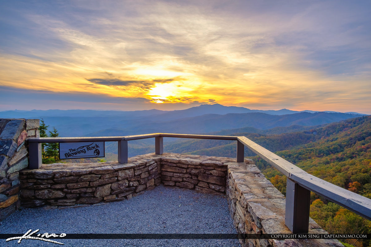 The Blowing Rock North Carolina Sign and Overlook