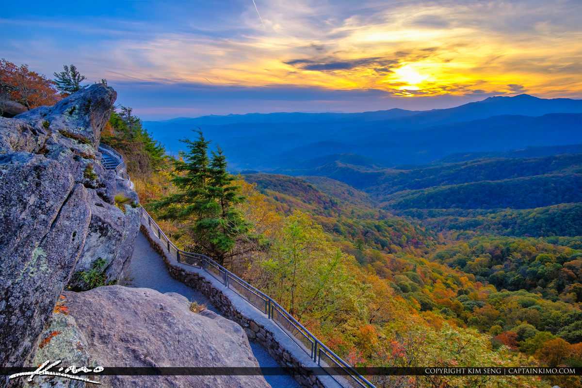 The Blowing Rock North Carolina Looking Over the Valley