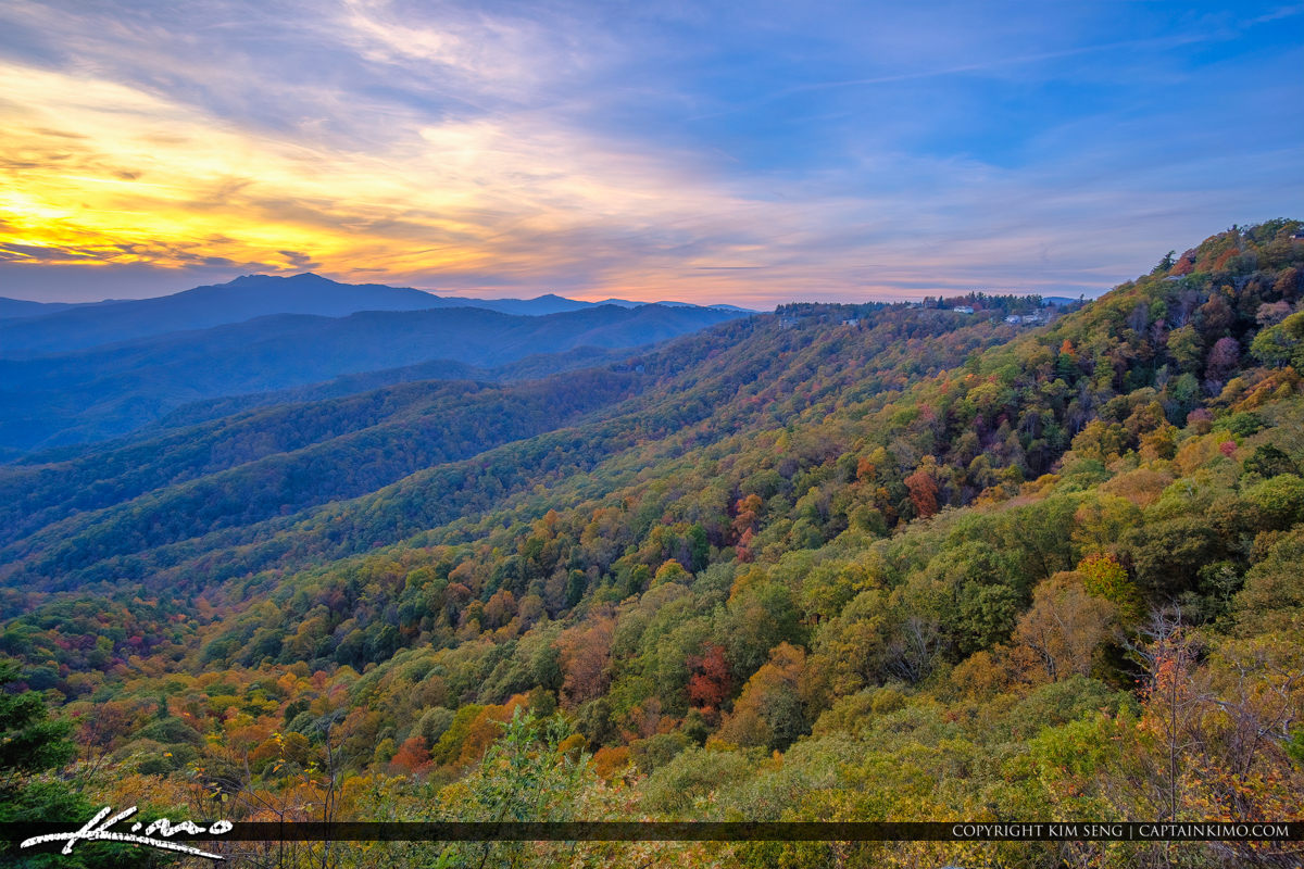 The Blowing Rock North Carolina Sunset Valley