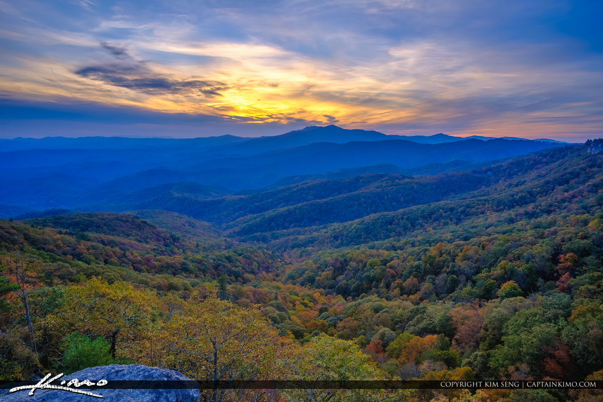 The Blowing Rock North Carolina Down the Mountain