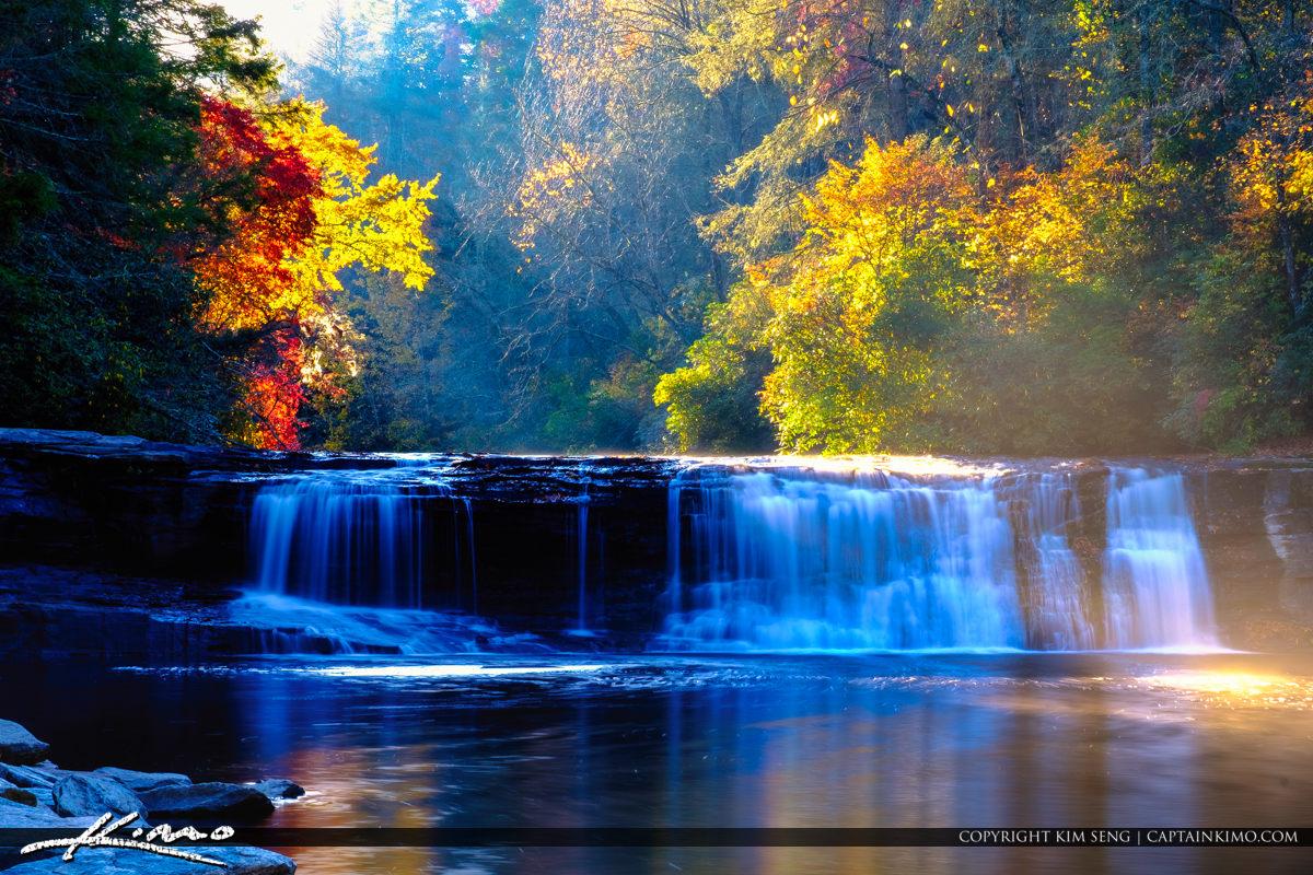 Dupont State Forest North Carolina Morning Fog Hooker Waterfalls