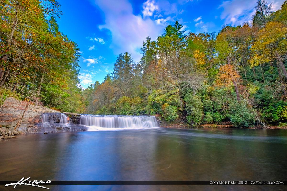 Dupont State Forest North Carolina Wide Blue Sky Brevard