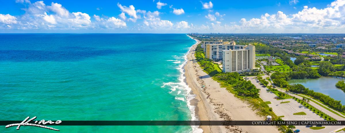 Waterfront Property Jupiter Florida Aerial Photography