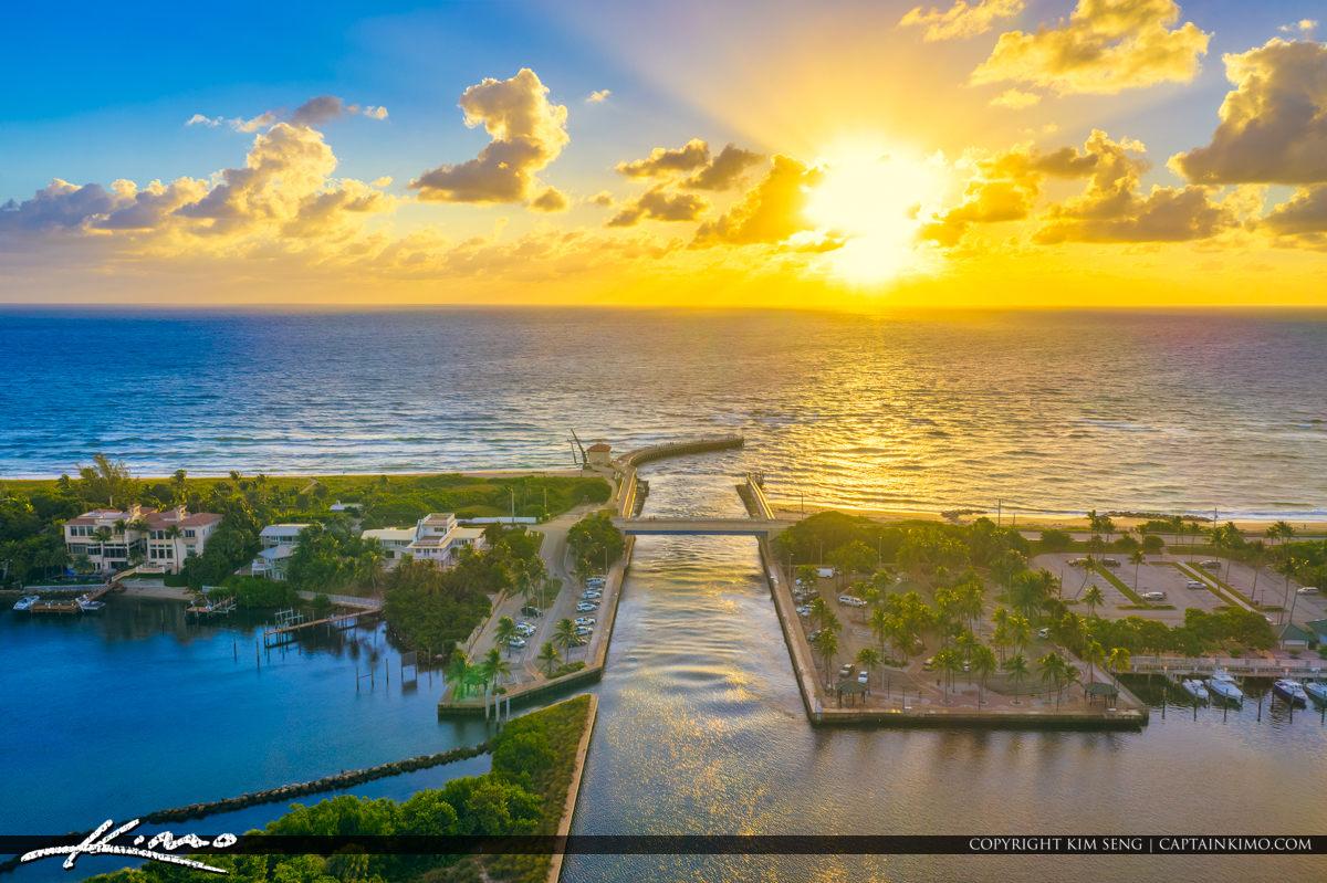 Boynton Beach Sunrise Aerial Photo Palm Beach County