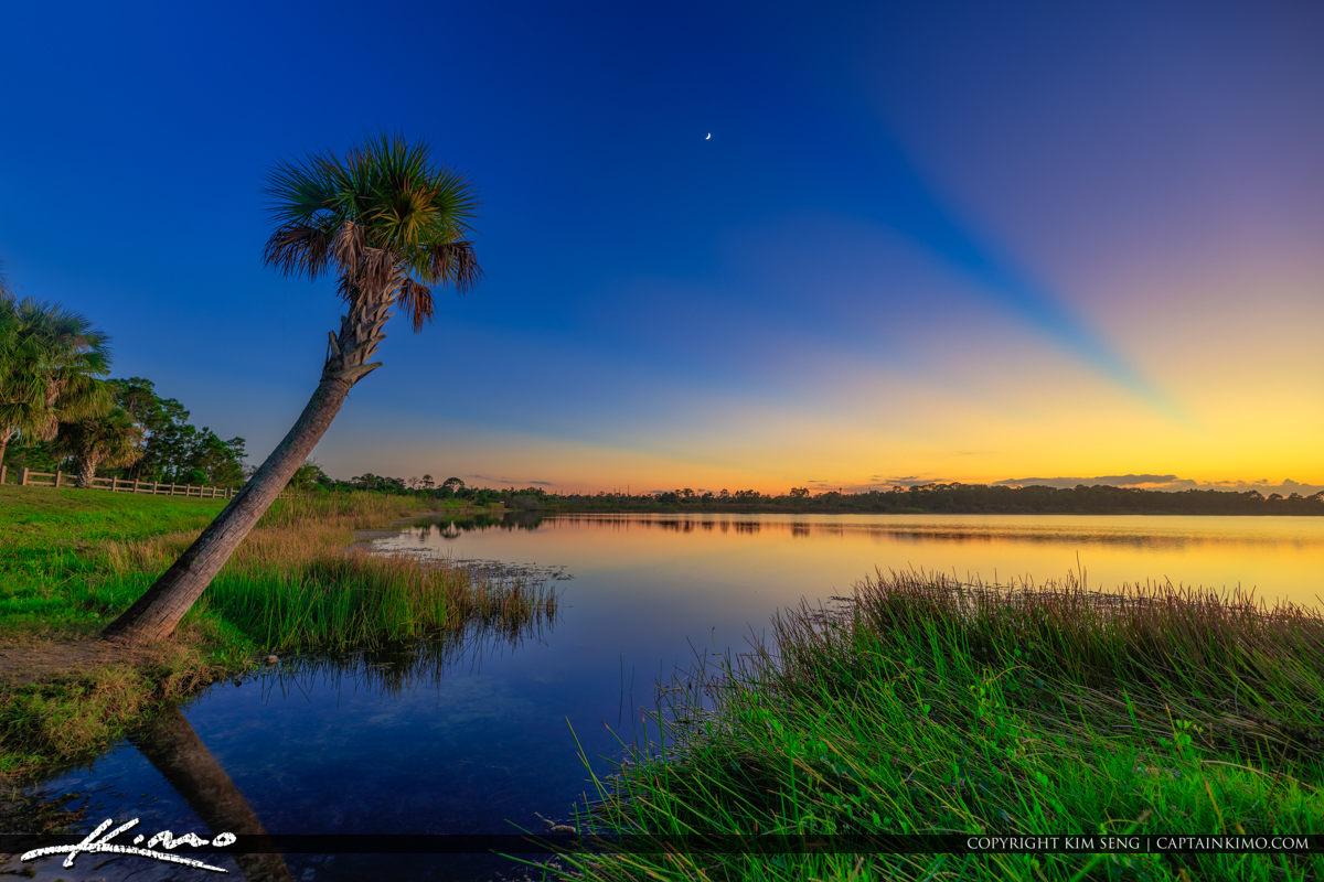 George LeStrange Preserve Sunset at Canoe Launch Fort Pierce Flo