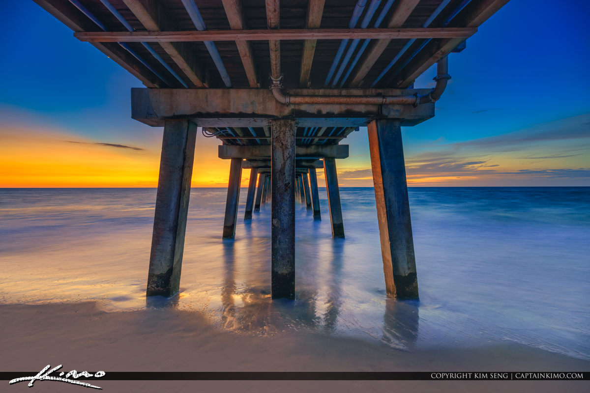 Underneath Naples Fishing Pier During Sunset