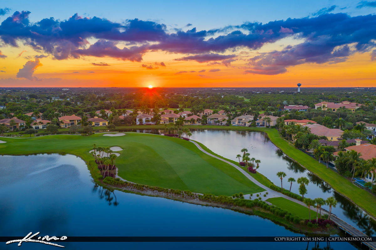 Frenchmans Reserve Aerial Photo Sunset Homes Golf Course