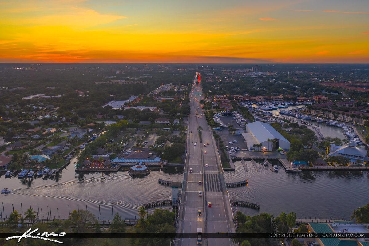 Palm Beach Gardens Aerial Photography PGA Boulevard Intracoastal