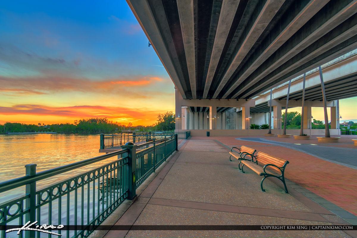 Bench Riverwalk Events Plaza Indiantown Rd Bridge Jupiter Florid