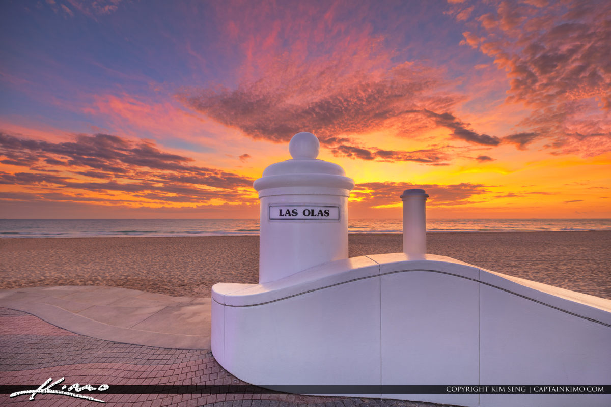 Las Olas Sign Beach Sunrise Fort Lauderdale Florida