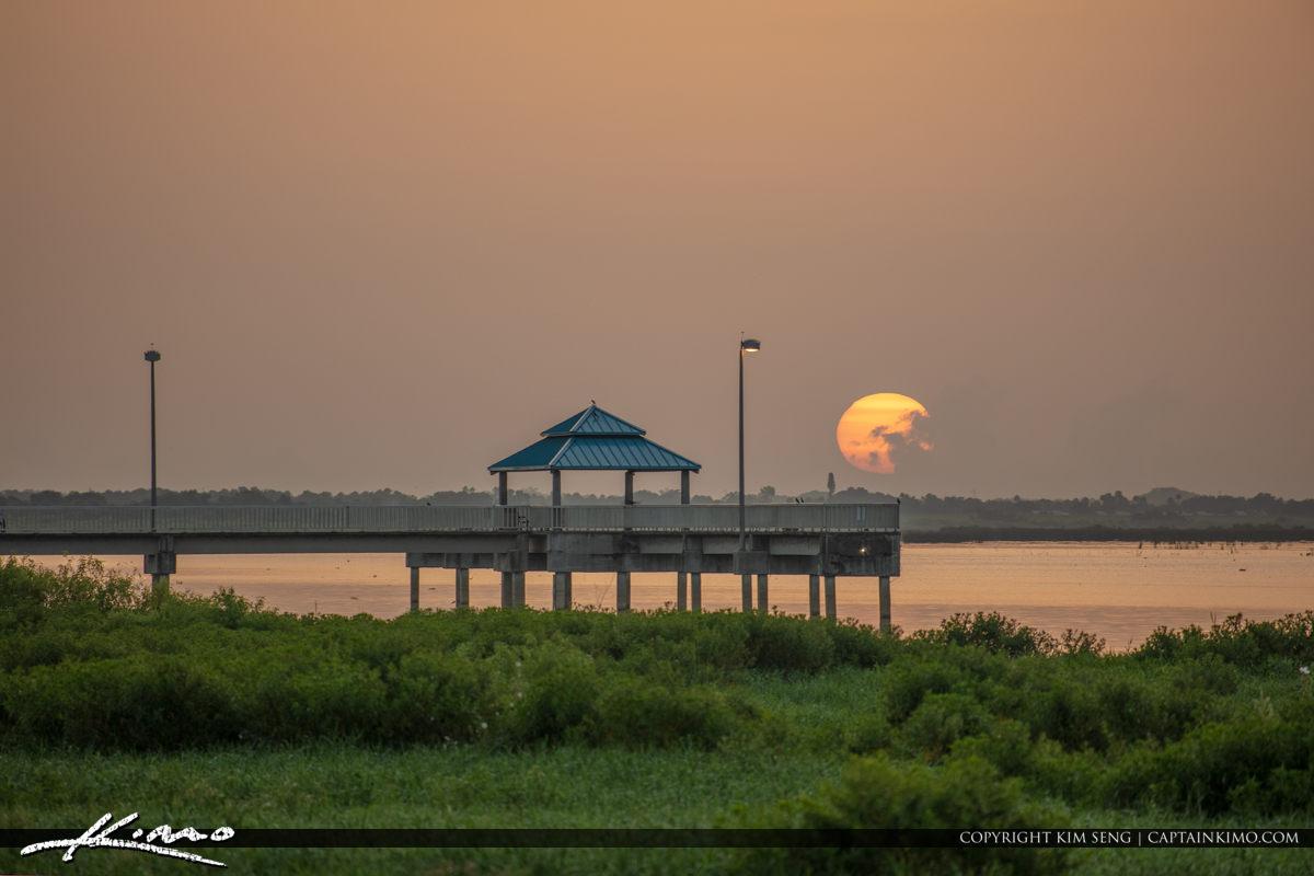 Early Morning at Pier Lake Okeechobee Park Sunrise