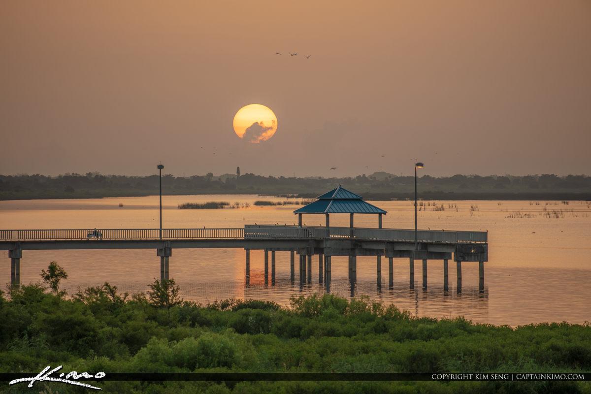 Lake Okeechobee Park Sunrise Over Lake O