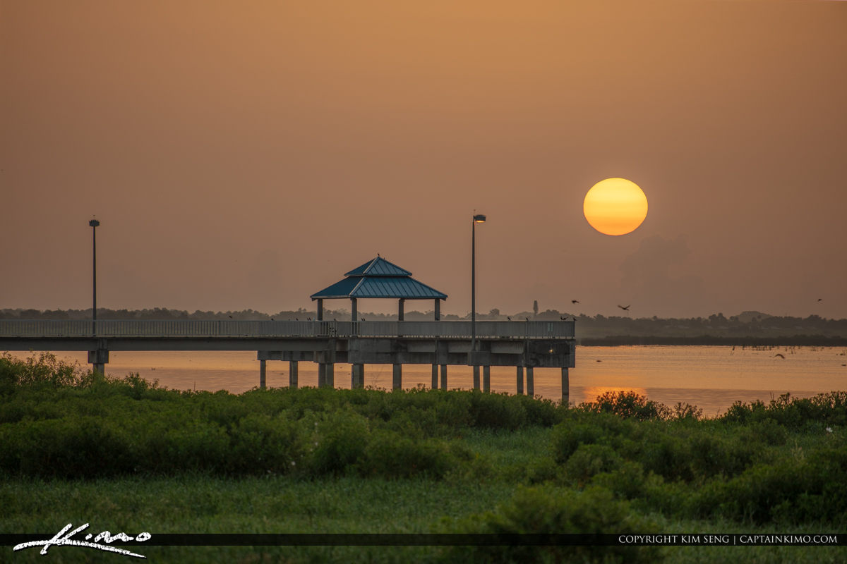 Lake Okeechobee Park Sunrise Fishing Pier
