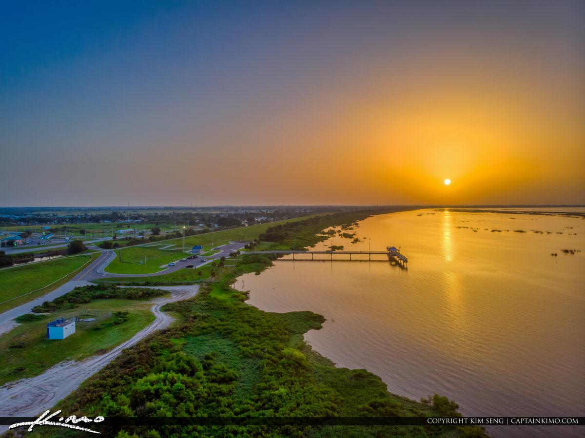 Lake Okeechobee Park Sunrise Aerial Photography