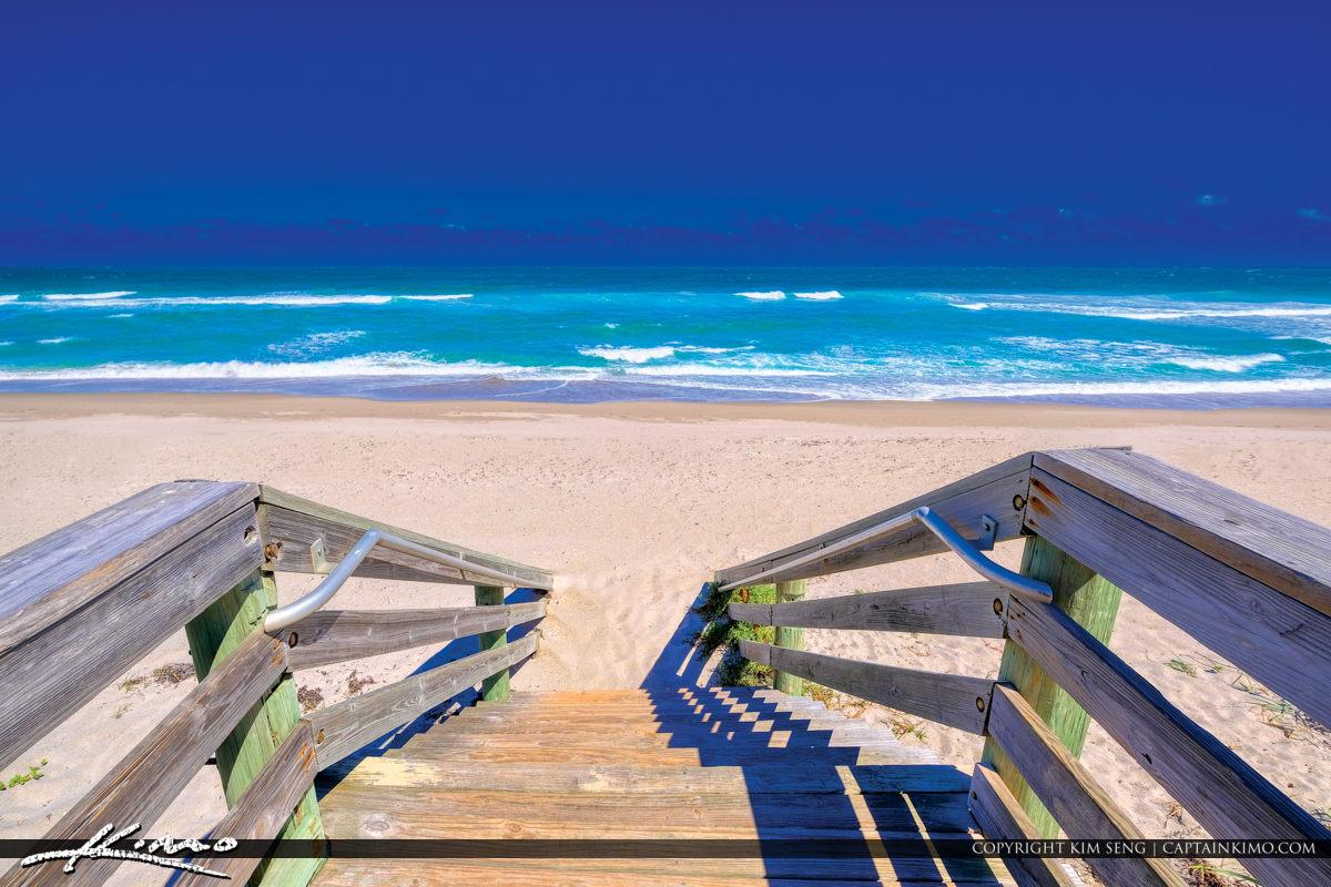 Jupiter Florida Stairway to Bluewater Ocean Beach Access 46