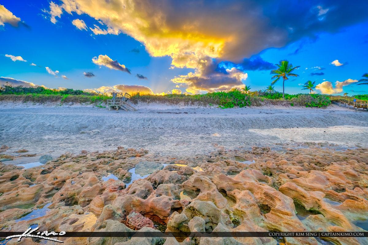 Rocks at Coral Cove Park Jupiter Island