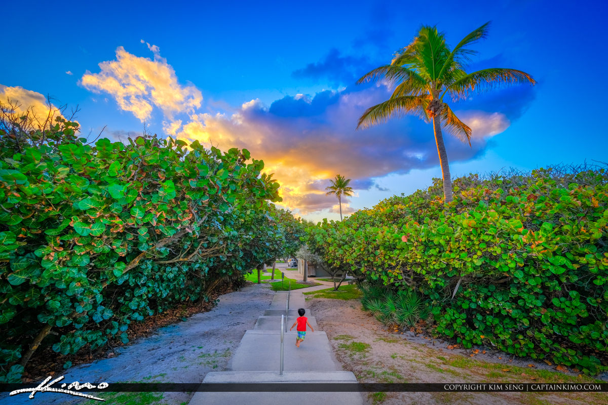 Coral Cove Park Jupiter Island Florida Sunset Last Day of School
