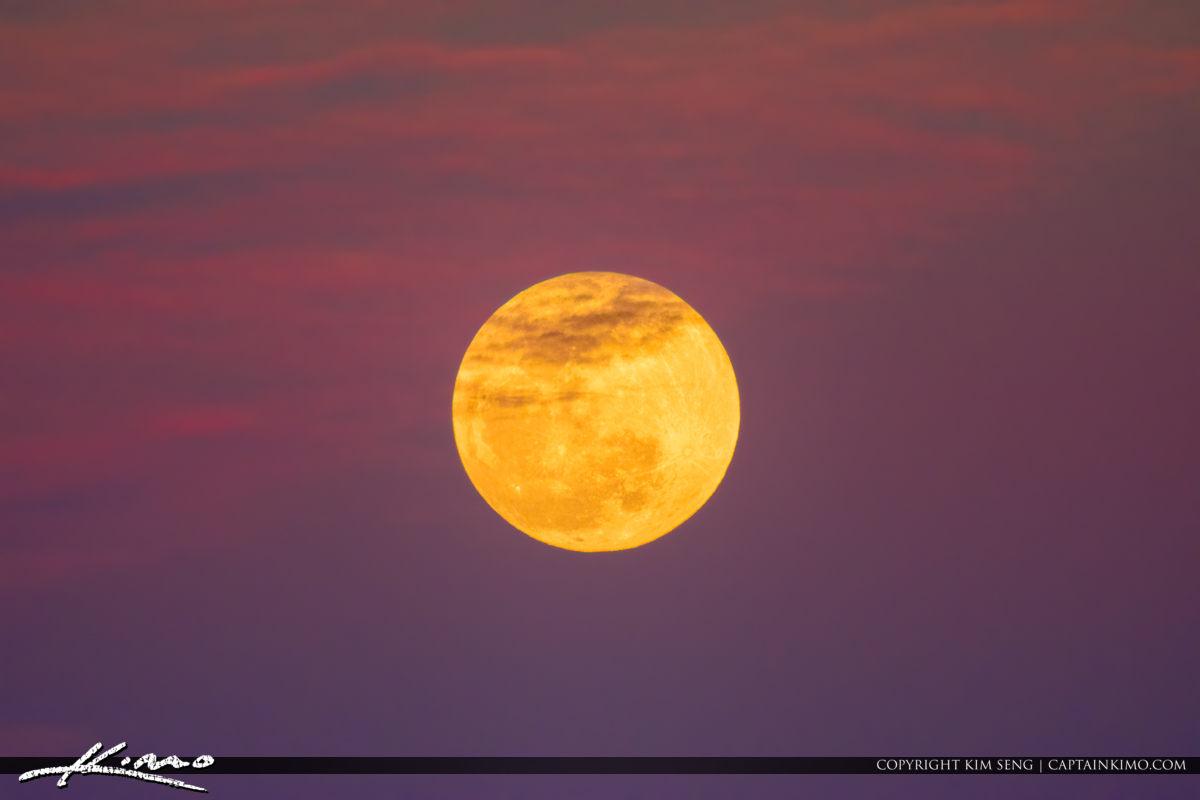 Full Moon Purple Sky