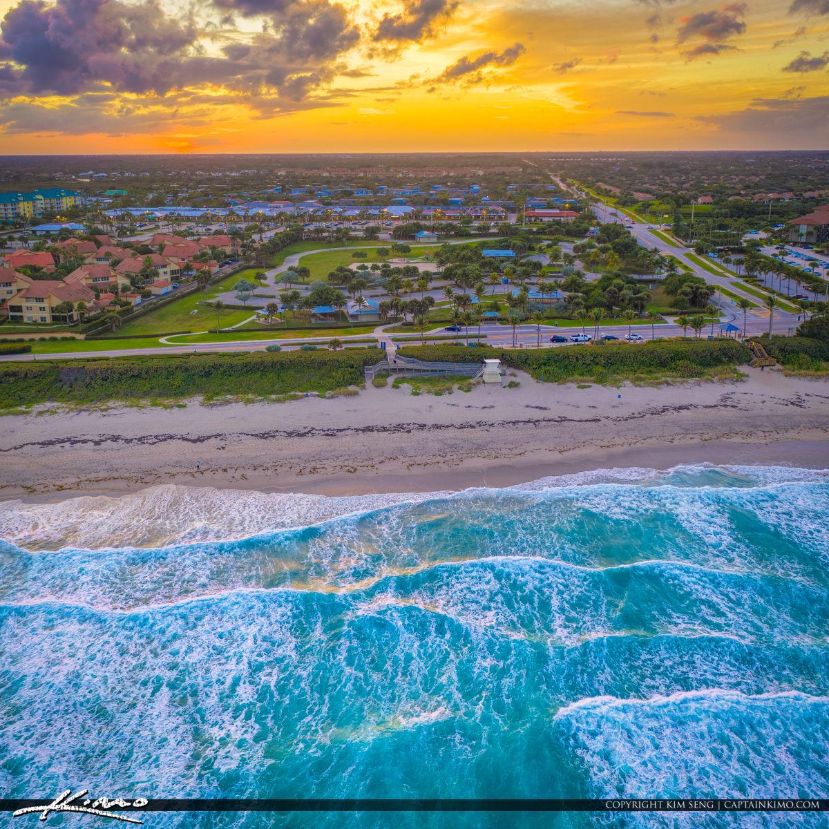 Juno Beach Sunset Dog Beach Blue Water Aerial