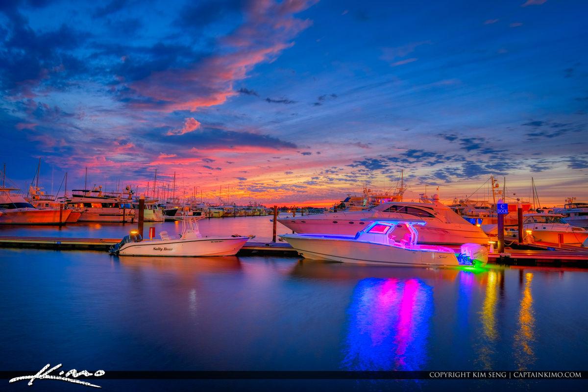 Stuart Florida Sunset Marina
