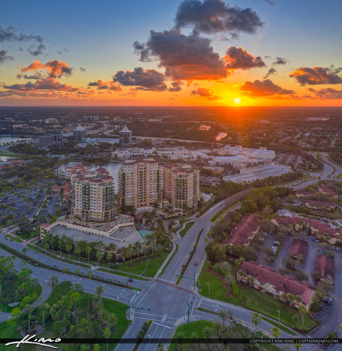 Palm Beach Gardens Epic Aerial Photography Sunset Real Estate Pr