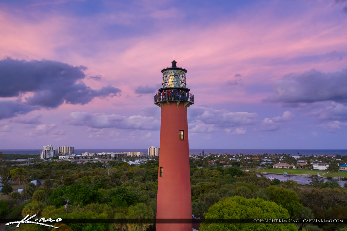 Sunset Tour Purple Sky Jupiter Lighthouse