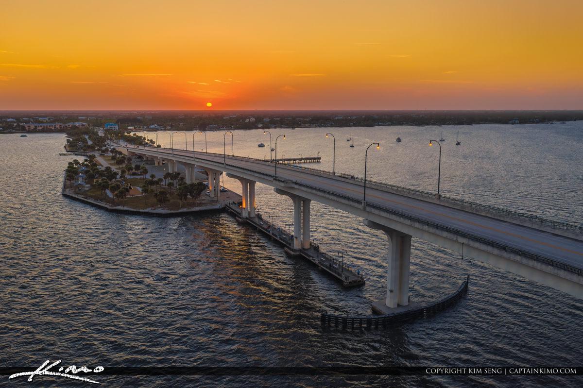 Jensen Beach Causeway Sunset at Indian River