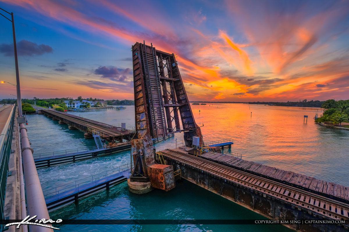 Loxahatchee River Sunset at Railroad Jupiter Florida