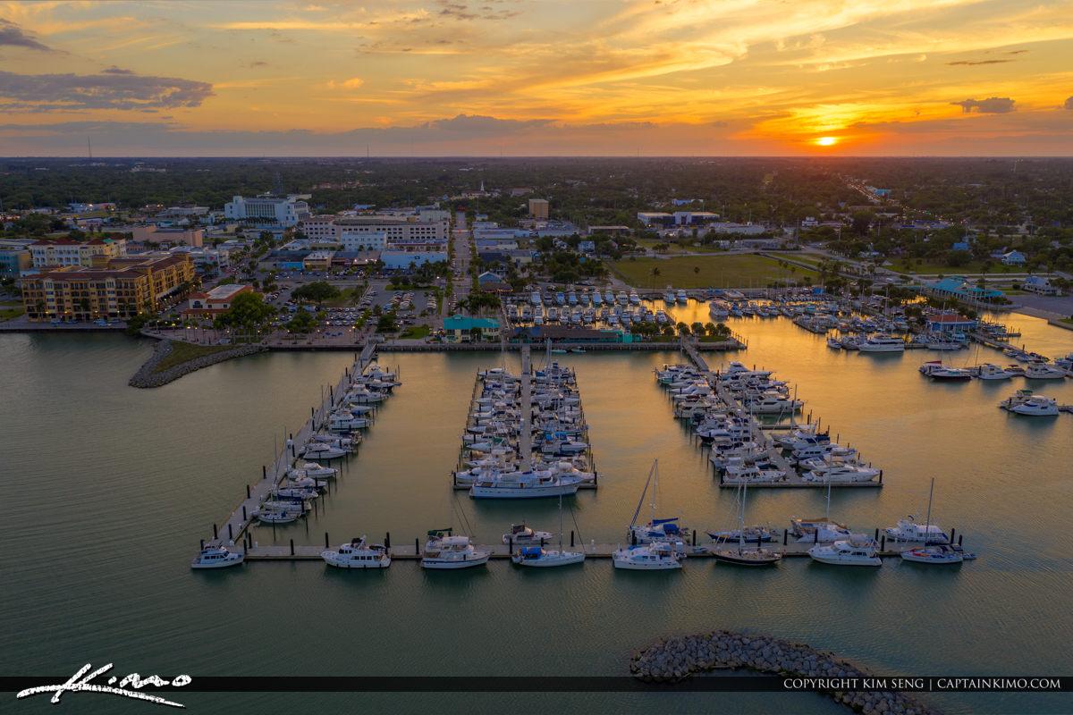 Sunset Fort Piercce Marina Sunrise City Florida