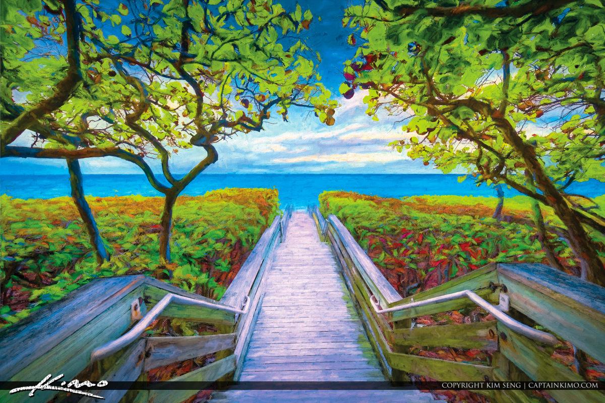 Jupiter Florida Beach Access 46 Painting Art