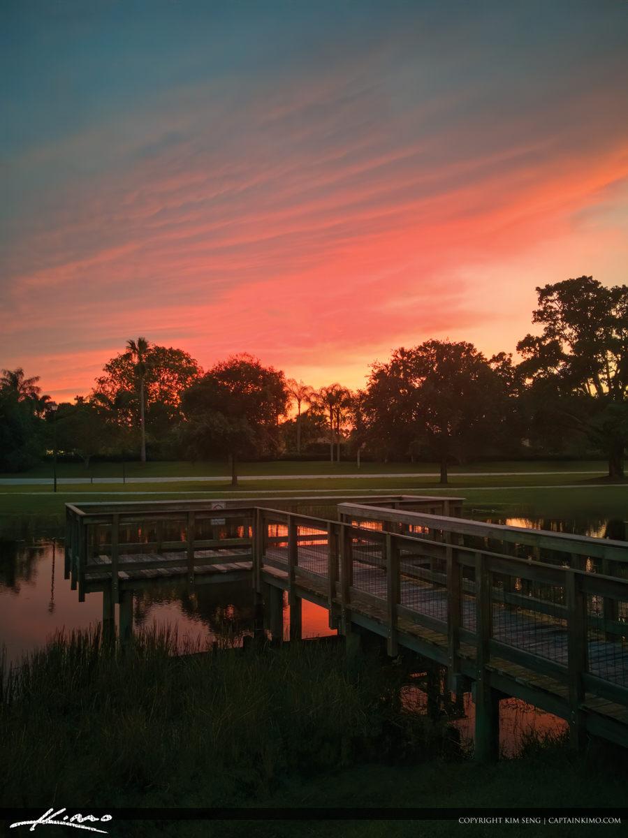 PGA National Park Sunset at Fishing Dock