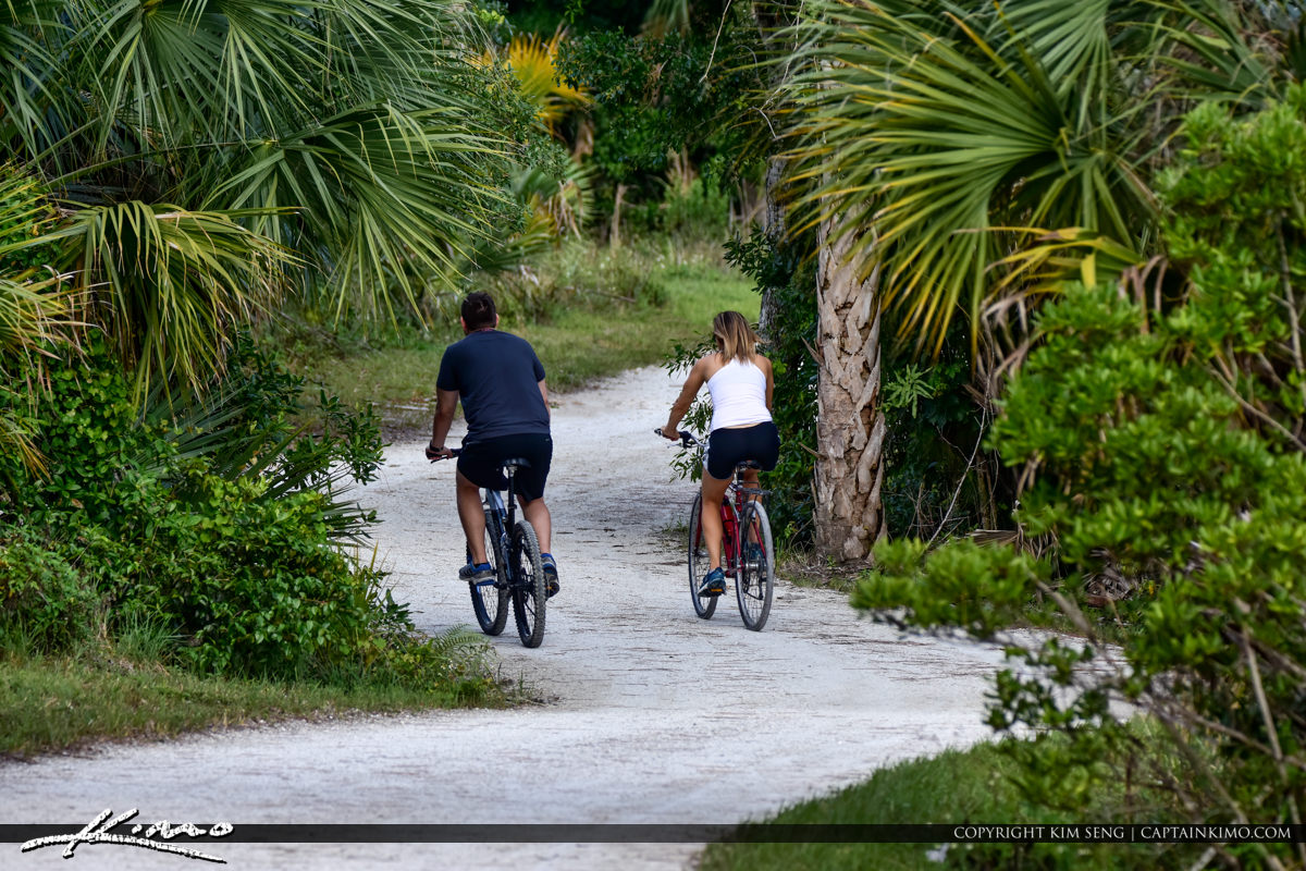 Biker at Riverbend Park Trail