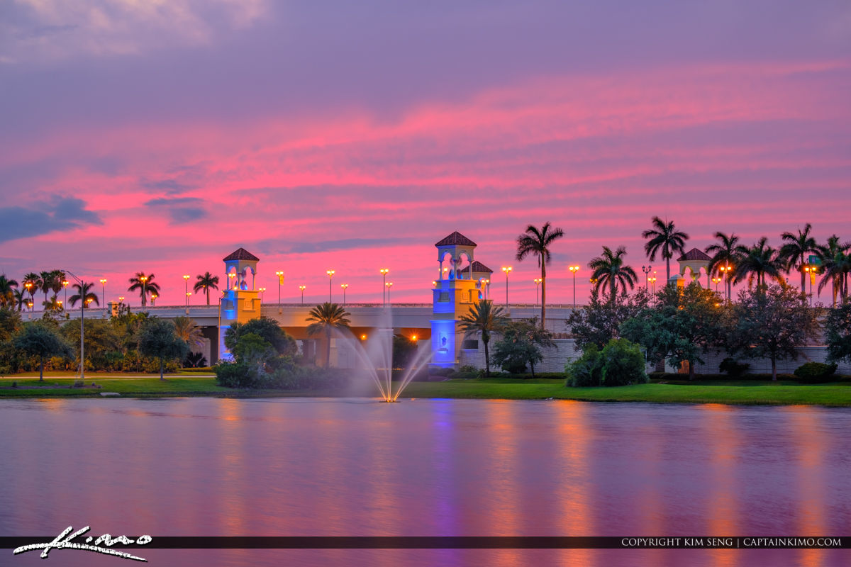 PGA Flyover Bridge Pink Sky